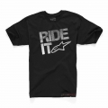 Camiseta Manga Corta Alpinestars Ride It Tech Negro