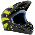 Casco Integral Bluegrass Intox Negro-Amarillo