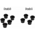 Pack Hembras Plato Bpart Components M8x0,75 Negro (Largo 6,5mm)