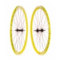 "Pair Fixie FK Wheels Yellow 700"" with braking-side"