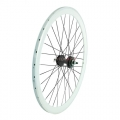 "Pair Wheels Fixie 700"" Fixed White + Free Spoke + Spoke + Lockring"