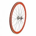 "Pair Wheels Fixie 700"" Fixed Orange + Free Spoke + Spoke + Lockring"