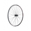 700c black-spokes Cassette 8-11s Black Hybrid Rear Wheel