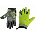 Guantes Gel M-wave Amarillos Fluorescente Reflectantes (Tactil)