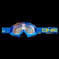 Máscara Oneal B-Flex ETR Azul/Naranja Transparente