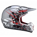 Casco Integral One Industries Kombat Massacre-Rojo/Plata