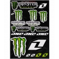 Hoja Plantilla Adhesivos One Industries Monster Energy