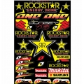 Hoja Plantilla Adhesivos One Industries Team RockStar Makita