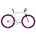 Bicicleta Origin8 Fix8 Blanco/Lila
