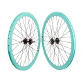 "Pair Fixie Origin 8 Wheels light-Blue 700"" with braking-side"