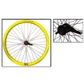 "Fixie Rear Wheel 700"" Origin 8 With Coaster Brake Hub Yellow"
