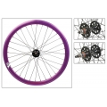 "Fixie Rear Wheel 700"" Origin 8 Purple Anonized lighter-sealed hub (32 spokes)"