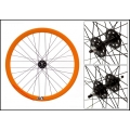 "Fixie Rear Wheel 700"" Profile Orange Origin 8 (32 spokes) ECO"