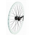 "Pair Fixie Wheels 700"" Front + Rear White With Brake Contrapedal"