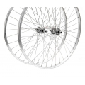 Front Hybrid Wheel 700 Silver Nuts