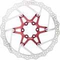 Reverse Disc Brake 180mm Red 6 screws