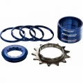 Kit Single Speed Reverse CR-MO 13 dientes Cassette Standard Azul Oscuro