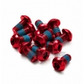 Pack 12 Tornillos Disco Freno Reverse M5x10mm Rojo