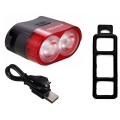 Vika 2 Led USB rear taillight-day Red 300lumen Li-Po