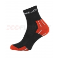 Calcetines XLC Colourfeet CS-C02 con Coolmax Negro-Rojo