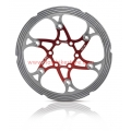 XLC Floating Disc Brake 160mm Red CNC Refrigerated
