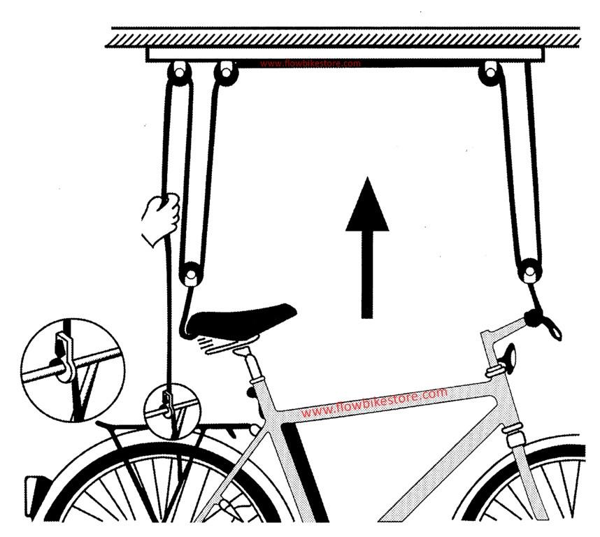 Soporte Elevador Bicicleta Techo - Colgar-bici-techo